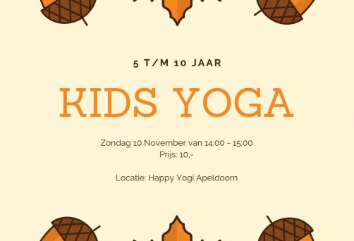 Kinderyoga workshop | 10 nov 2019